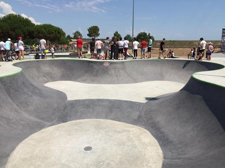Aujourd'hui, inauguration du nouveau skatepark de La Tranche…